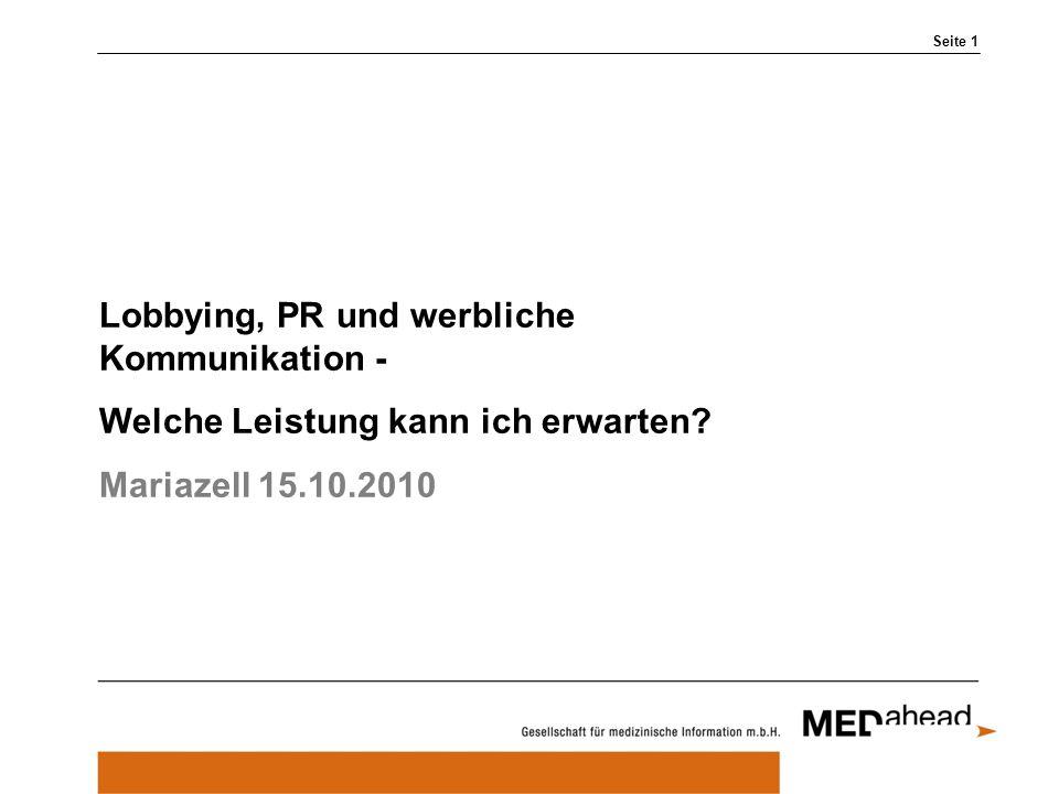 Lobbying, PR und werbliche Kommunikation -