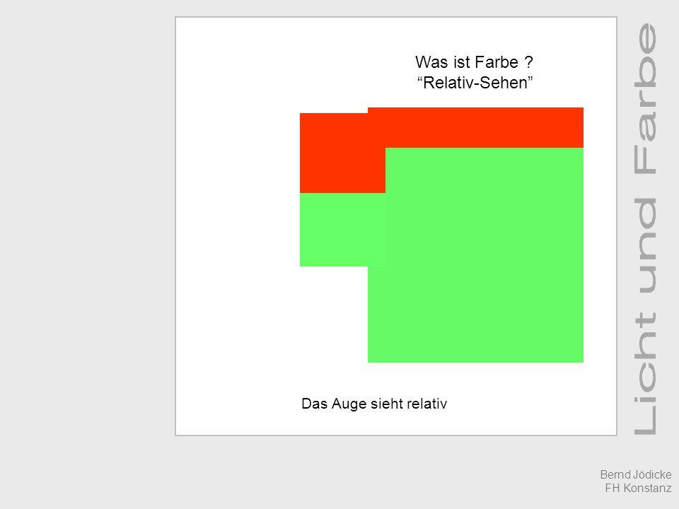 Was ist Farbe Relativ-Sehen Das Auge sieht relativ Bernd Jödicke