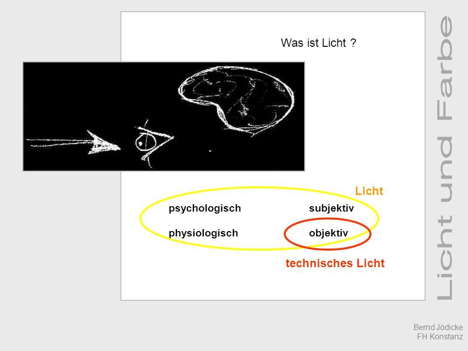 Was ist Licht Licht technisches Licht psychologisch subjektiv