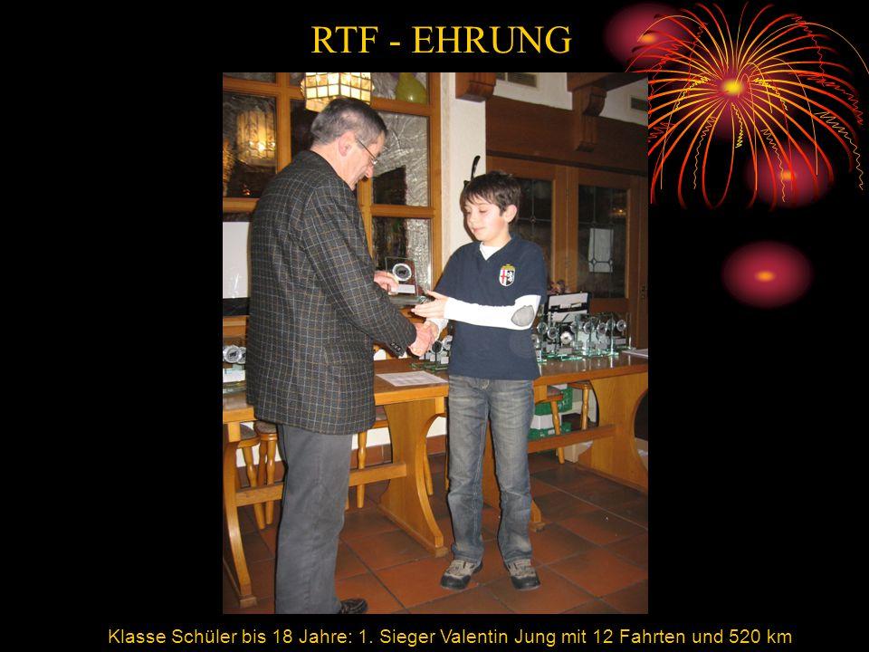 RTF - EHRUNG RTF Valentin Jung. Klasse Schüler bis 18 Jahre: 1.
