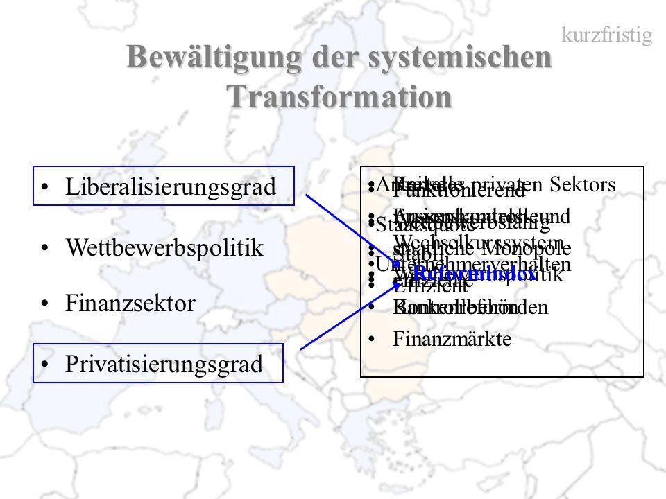 Bewältigung der systemischen Transformation