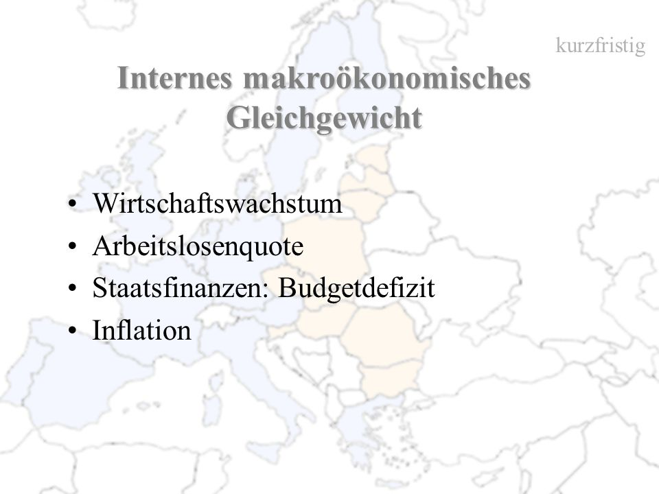 Internes makroökonomisches Gleichgewicht