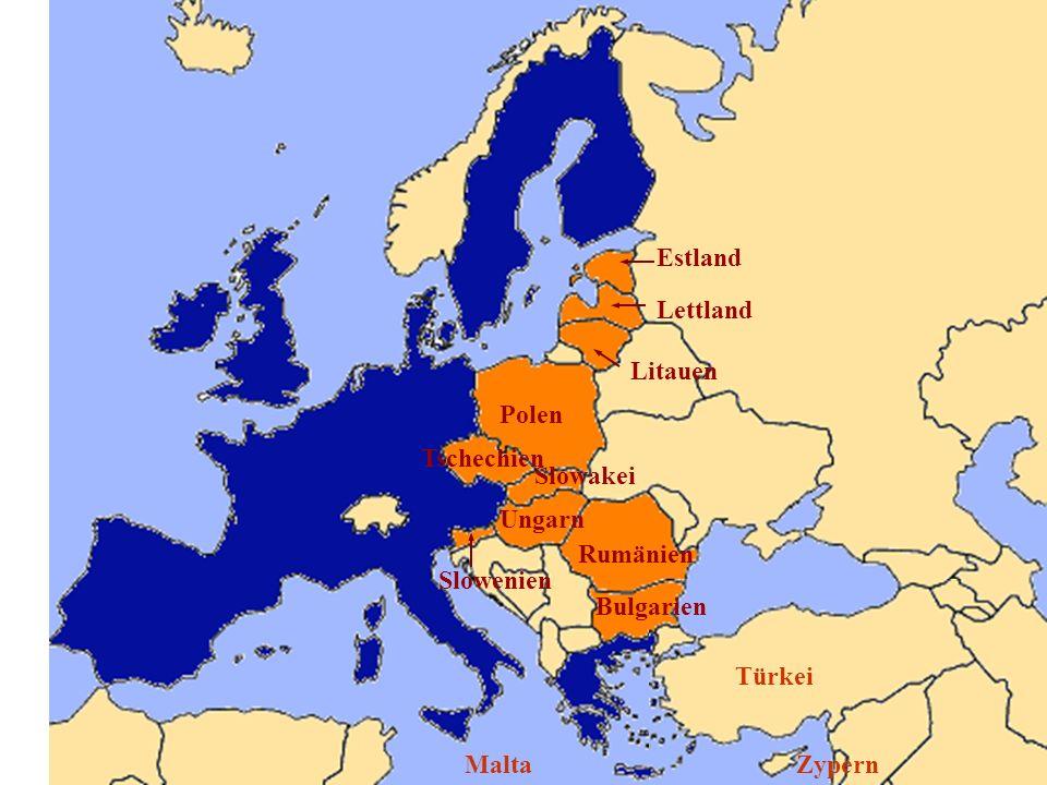 EstlandLettland. Litauen. Polen. Tschechien. Slowakei. Ungarn. Slowenien. Rumänien. Bulgarien. Türkei.