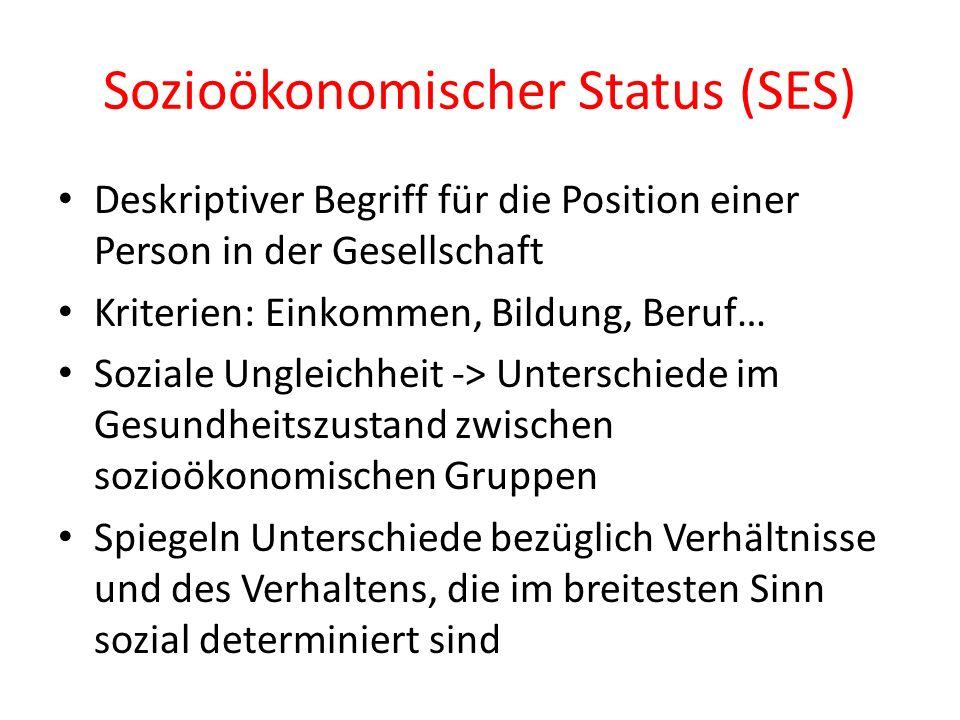 Sozioökonomischer Status (SES)