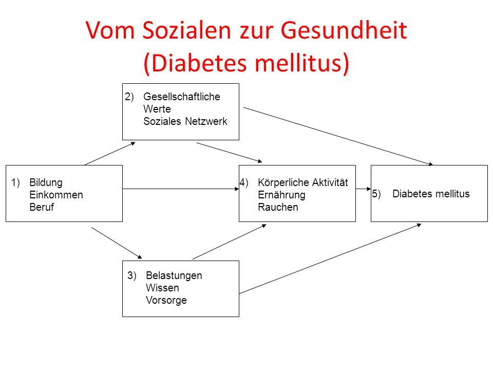 Vom Sozialen zur Gesundheit (Diabetes mellitus)