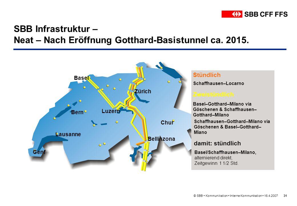 SBB Infrastruktur – Neat – Nach Eröffnung Gotthard-Basistunnel ca. 2015.