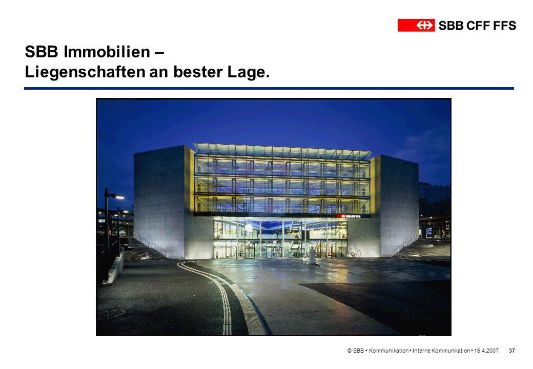 SBB Immobilien – Liegenschaften an bester Lage.