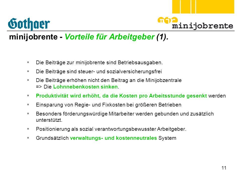 minijobrente - Vorteile für Arbeitgeber (1).