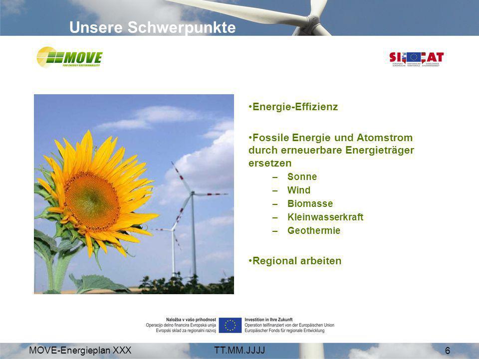 Unsere Schwerpunkte Energie-Effizienz