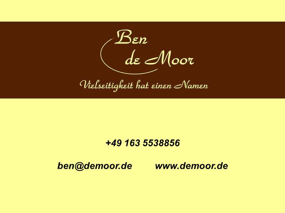ben@demoor.de www.demoor.de