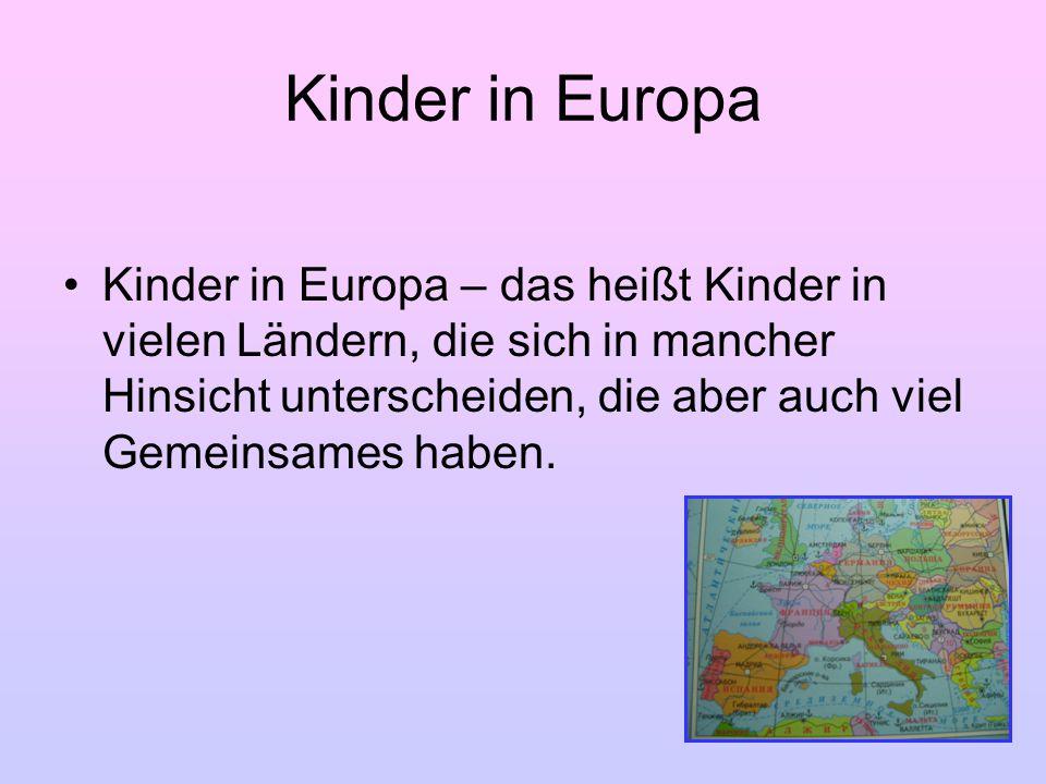 Kinder in Europa