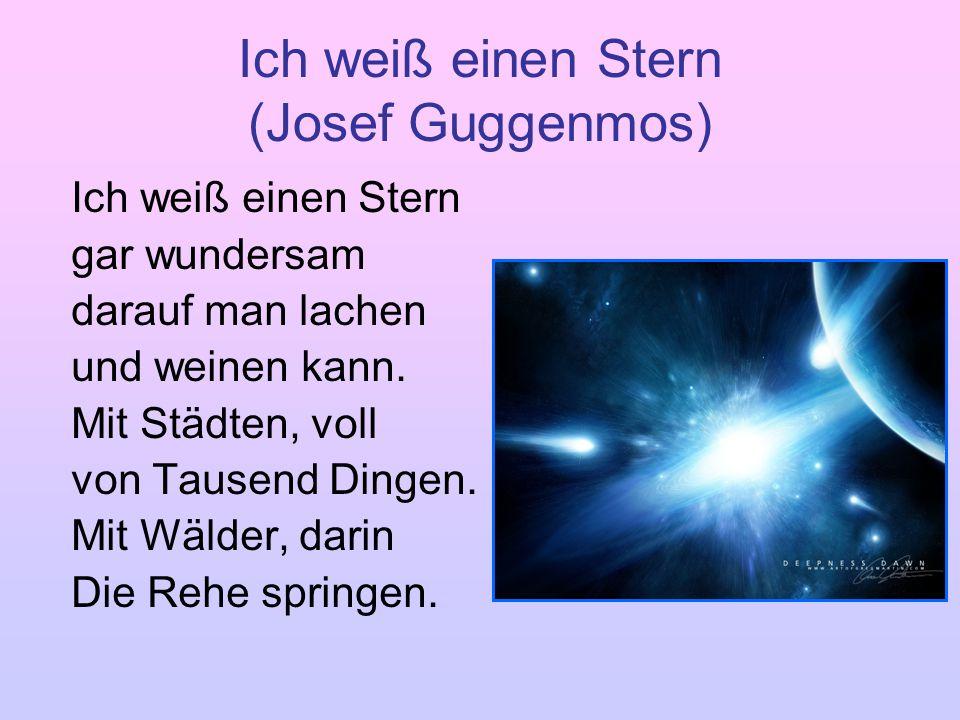 Ich weiß einen Stern (Josef Guggenmos)