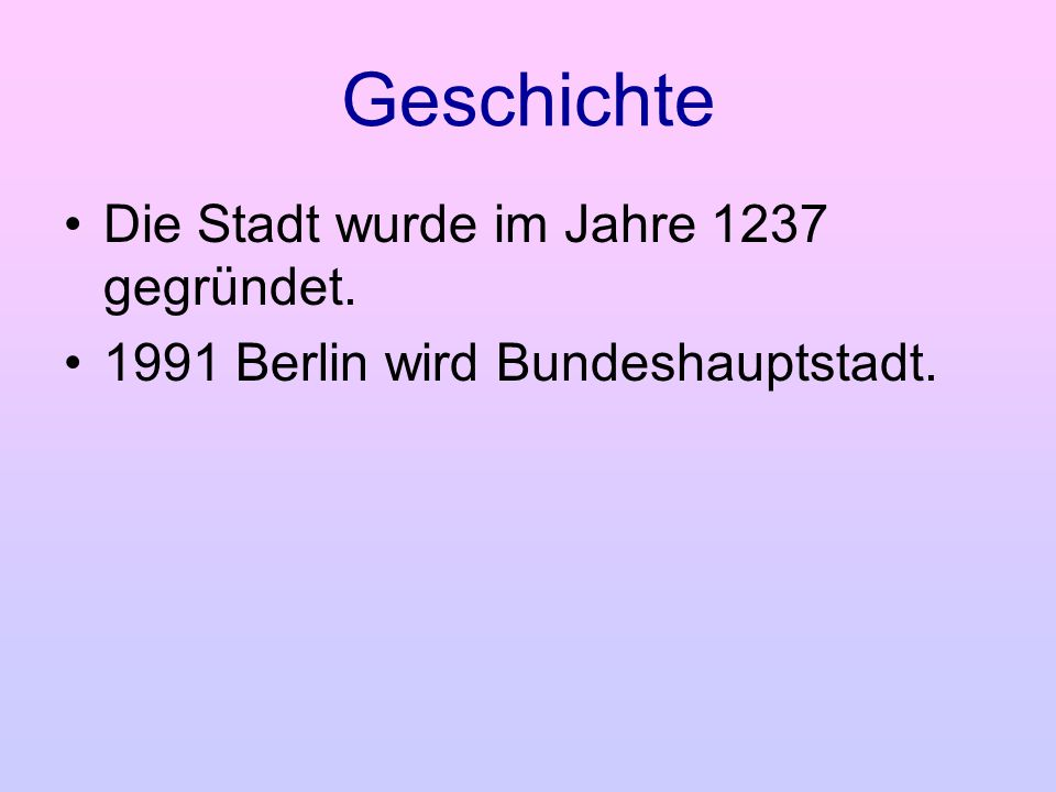 Geschichte Die Stadt wurde im Jahre 1237 gegründet.