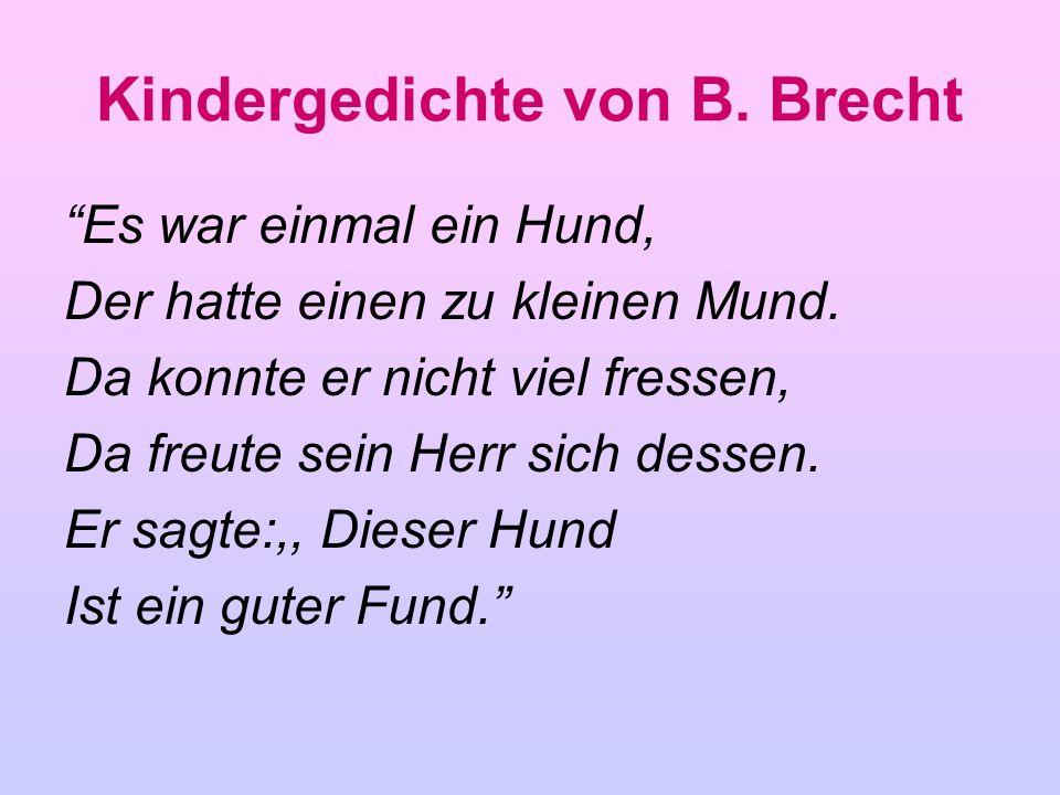 Kindergedichte von B. Brecht