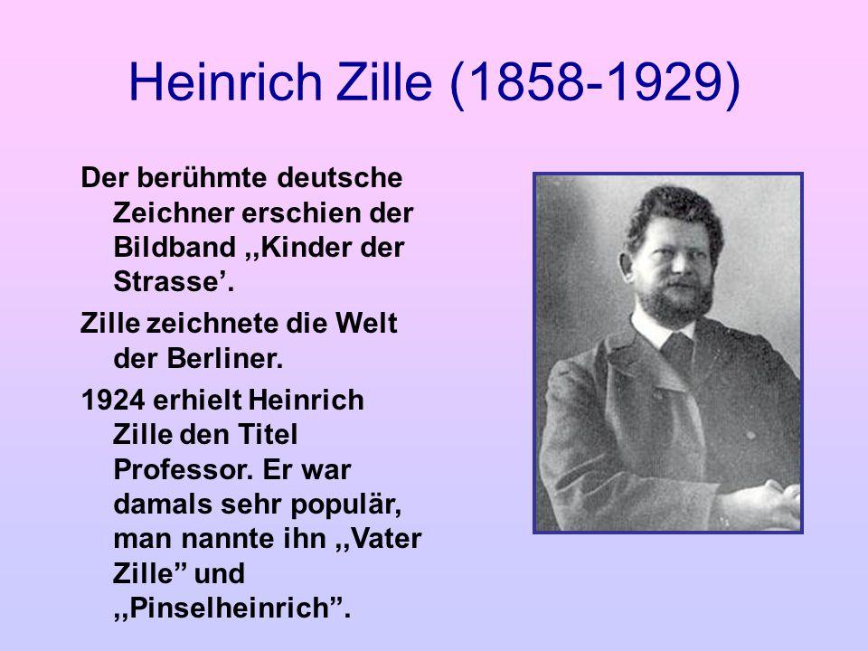 Heinrich Zille (1858-1929) Der berühmte deutsche Zeichner erschien der Bildband ,,Kinder der Strasse'.