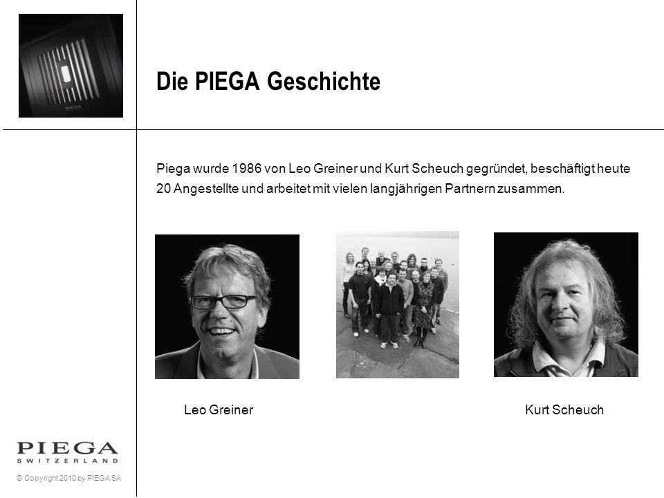 Die PIEGA Geschichte Piega wurde 1986 von Leo Greiner und Kurt Scheuch gegründet, beschäftigt heute.
