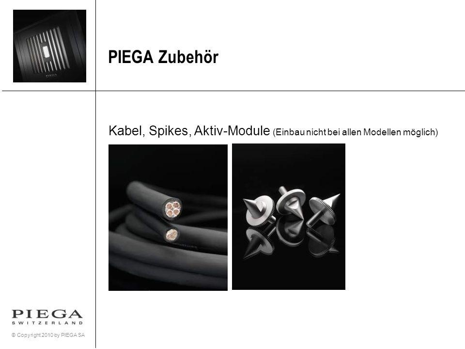 PIEGA Zubehör Kabel, Spikes, Aktiv-Module (Einbau nicht bei allen Modellen möglich)