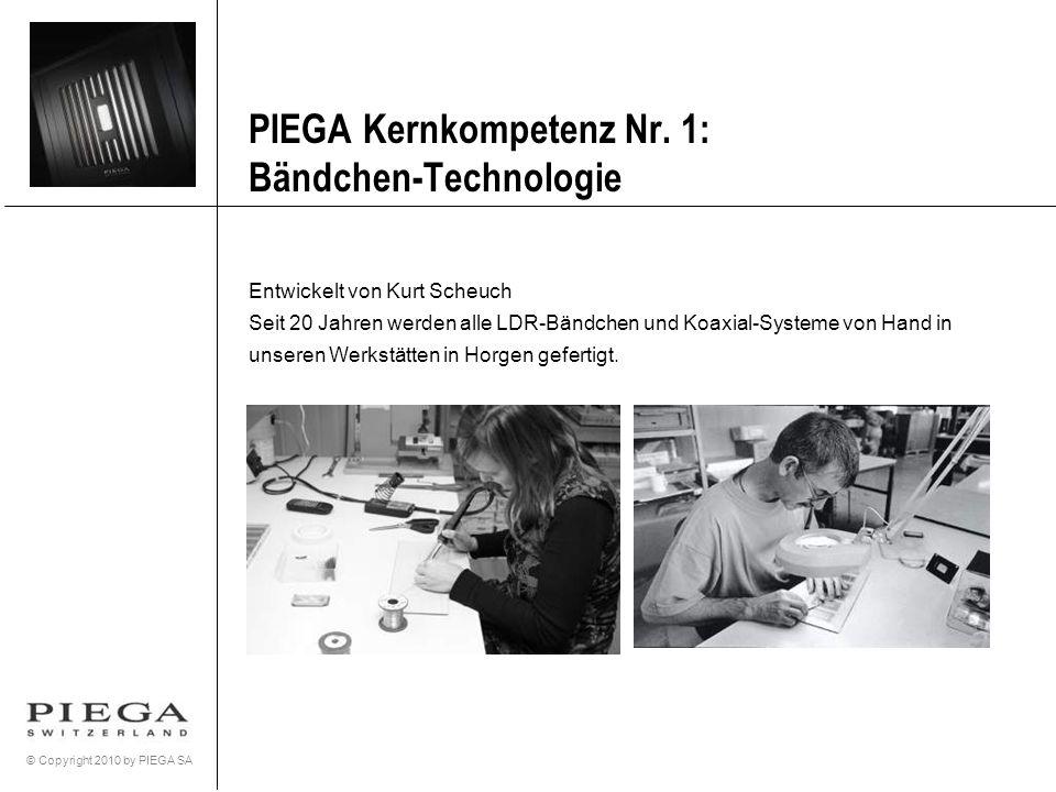 PIEGA Kernkompetenz Nr. 1: Bändchen-Technologie