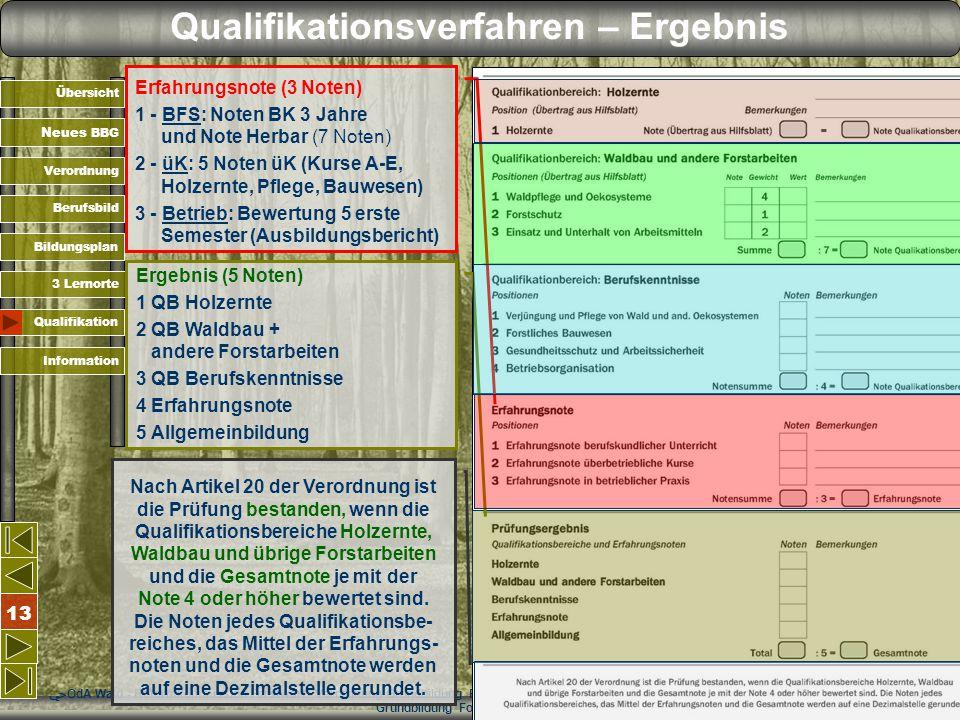 Qualifikationsverfahren – Ergebnis