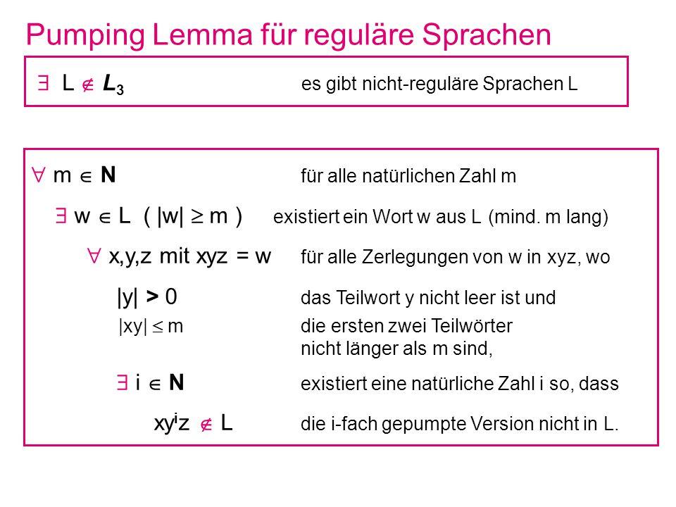 Pumping Lemma für reguläre Sprachen