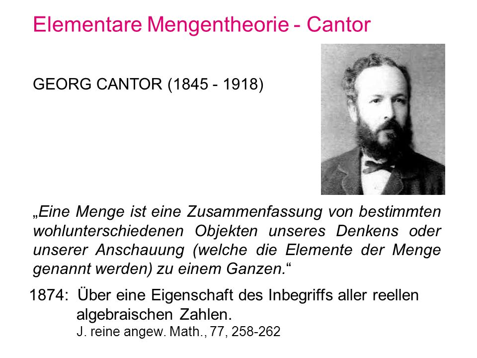 Elementare Mengentheorie - Cantor