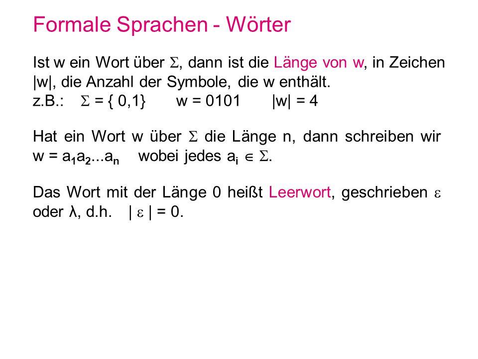 Formale Sprachen - Wörter