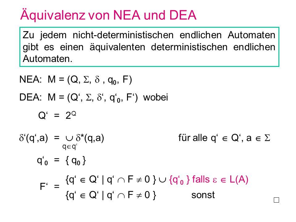 Äquivalenz von NEA und DEA