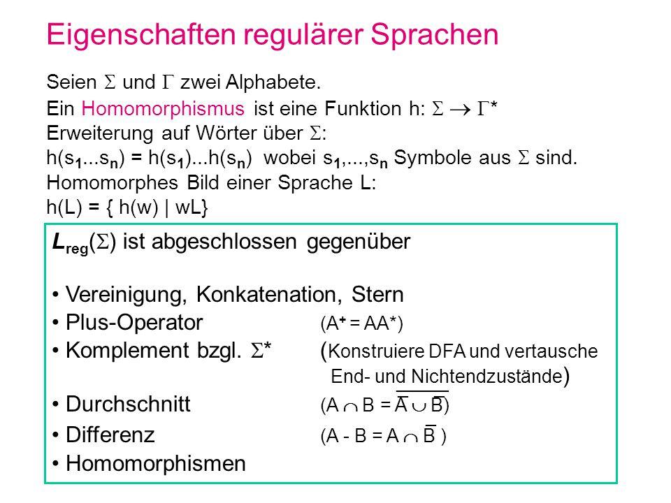 Eigenschaften regulärer Sprachen
