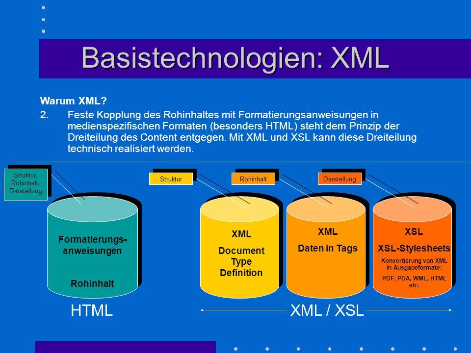 Basistechnologien: XML