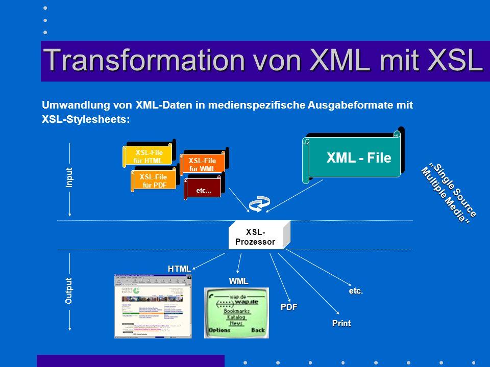 Transformation von XML mit XSL
