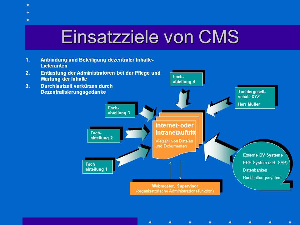 Webmaster, Supervisor (organisatorische Administrationsfunktion)