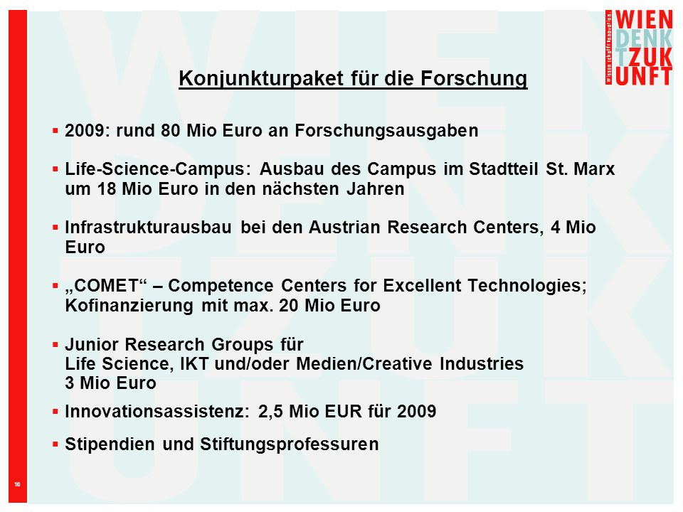 Konjunkturpaket für die Forschung