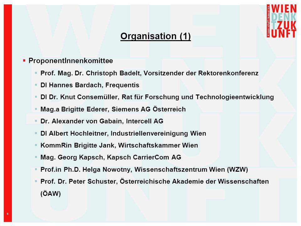 Organisation (1) ProponentInnenkomittee
