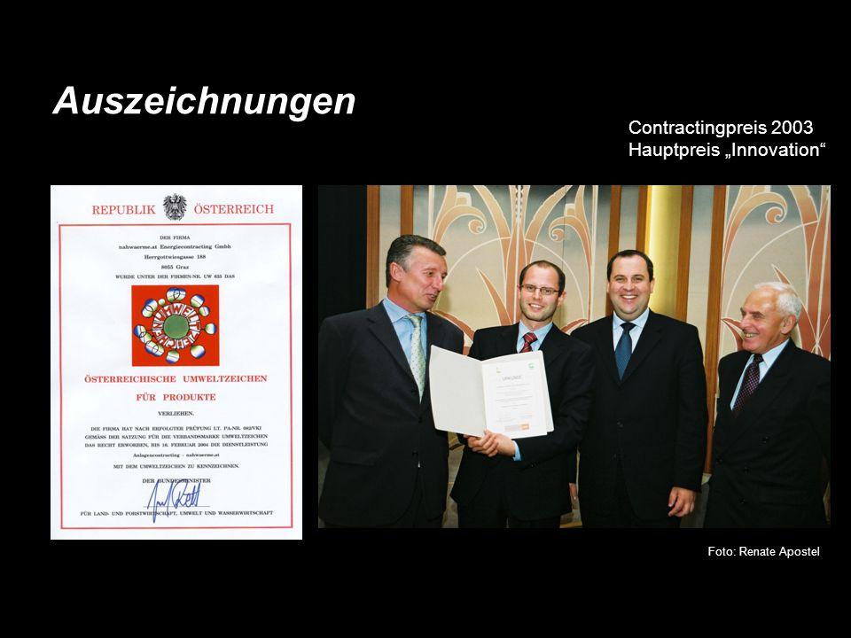 """Auszeichnungen Contractingpreis 2003 Hauptpreis """"Innovation"""