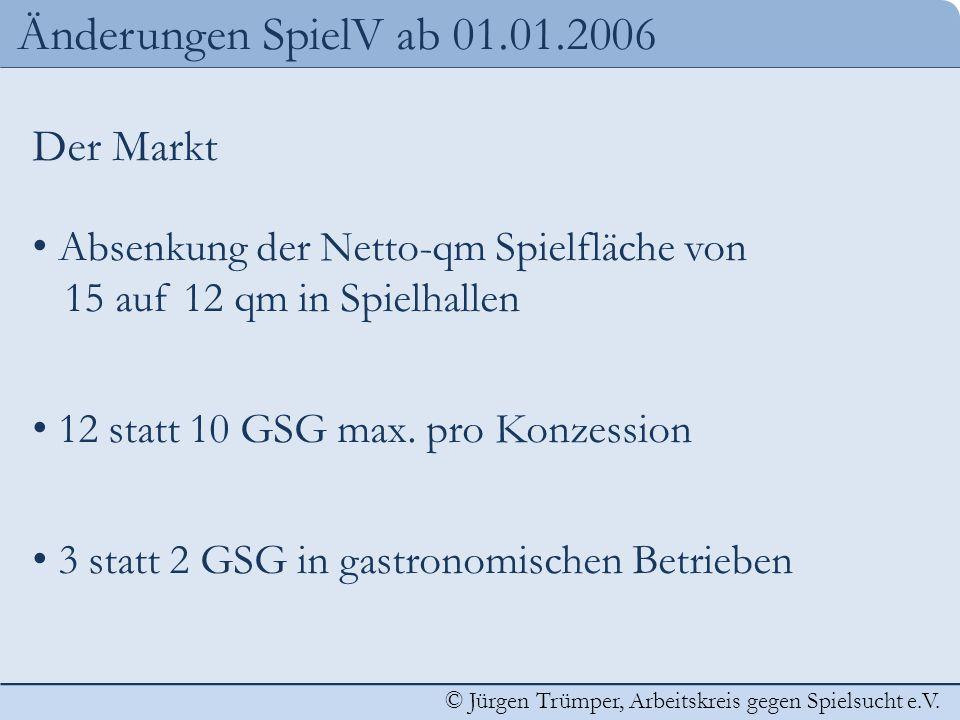 Änderungen SpielV ab 01.01.2006 Der Markt
