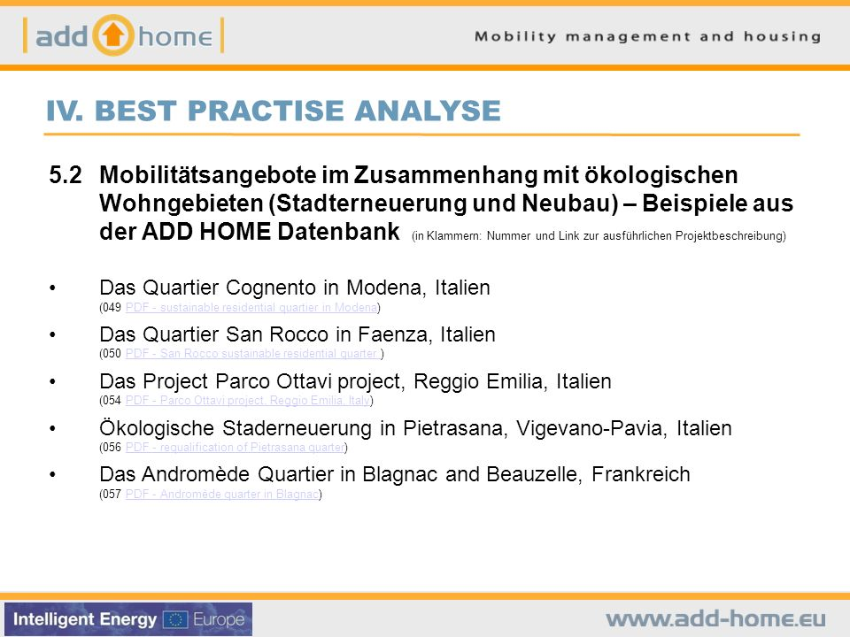 IV. BEST PRACTISE ANALYSE