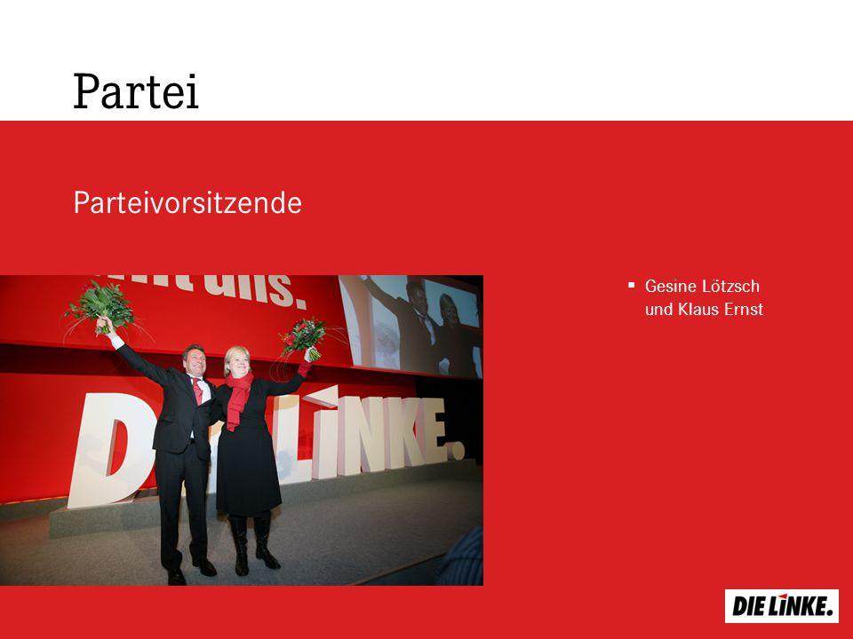 Partei Parteivorsitzende Gesine Lötzsch und Klaus Ernst