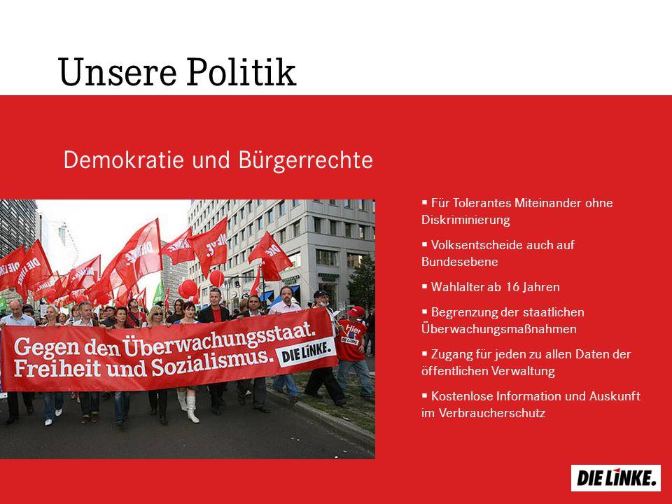 Unsere Politik Demokratie und Bürgerrechte