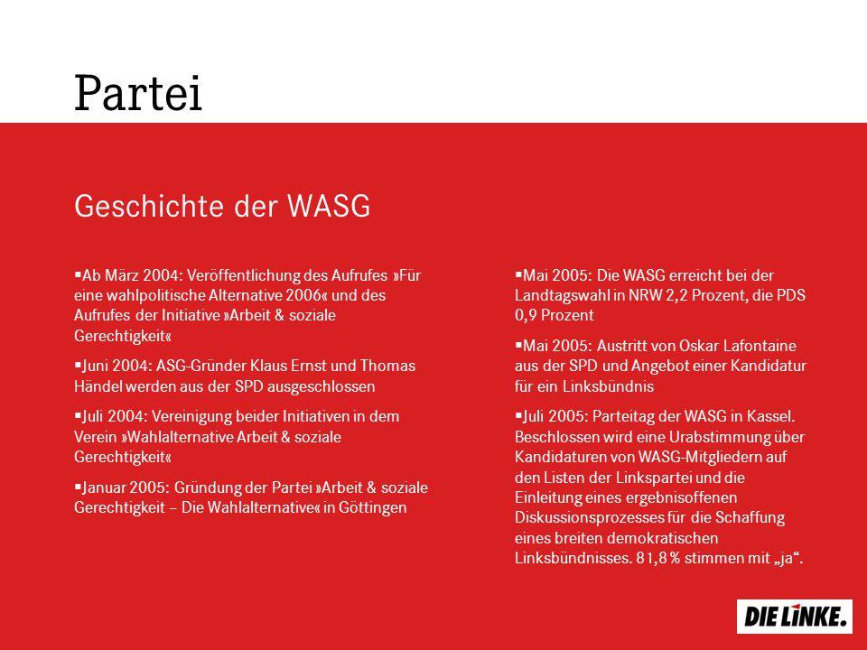 Partei Geschichte der WASG