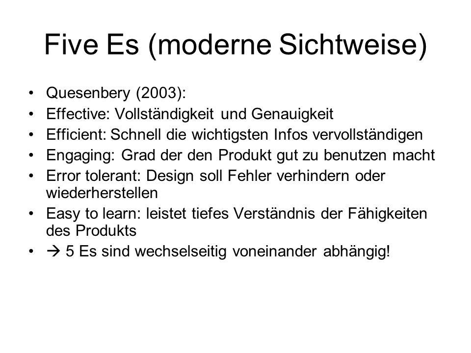 Five Es (moderne Sichtweise)