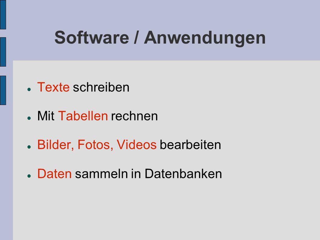 Software / Anwendungen