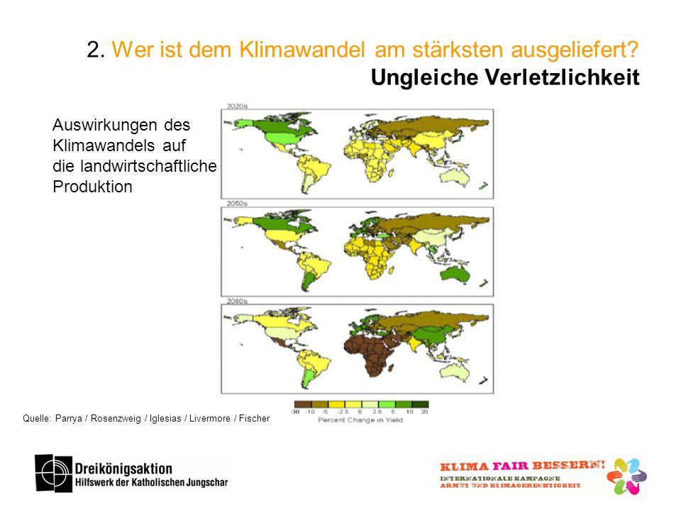 2. Wer ist dem Klimawandel am stärksten ausgeliefert