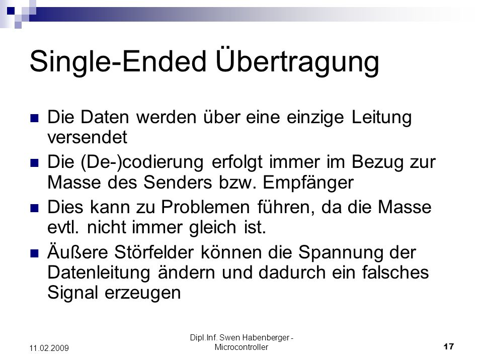 Single-Ended Übertragung