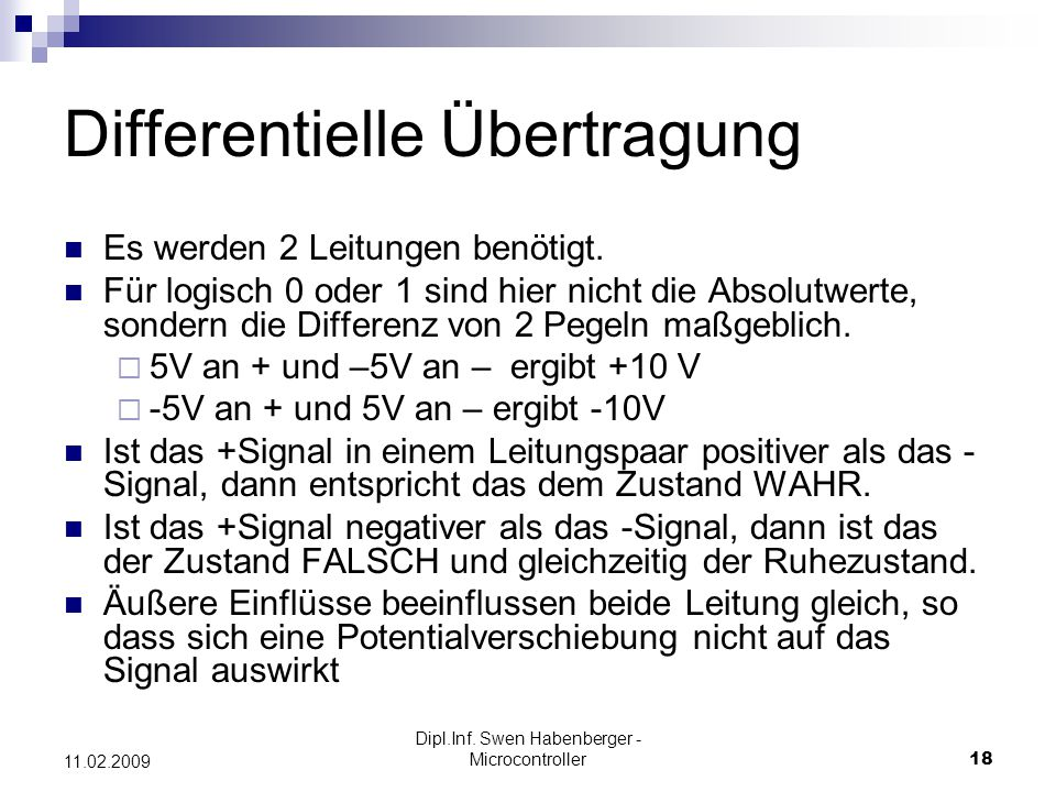 Differentielle Übertragung