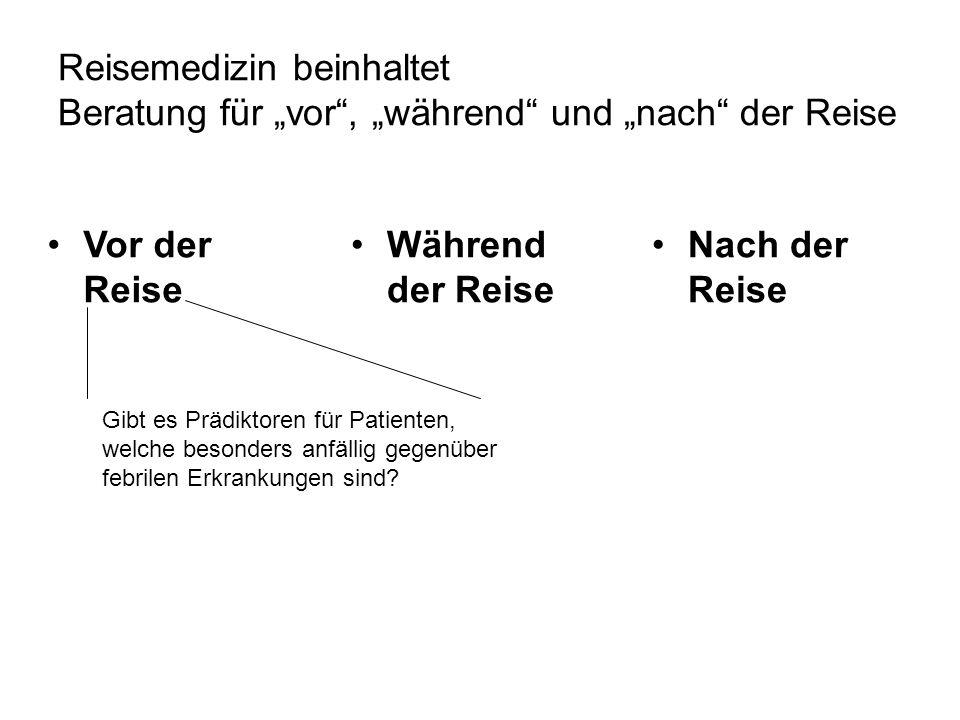 """Reisemedizin beinhaltet Beratung für """"vor , """"während und """"nach der Reise"""