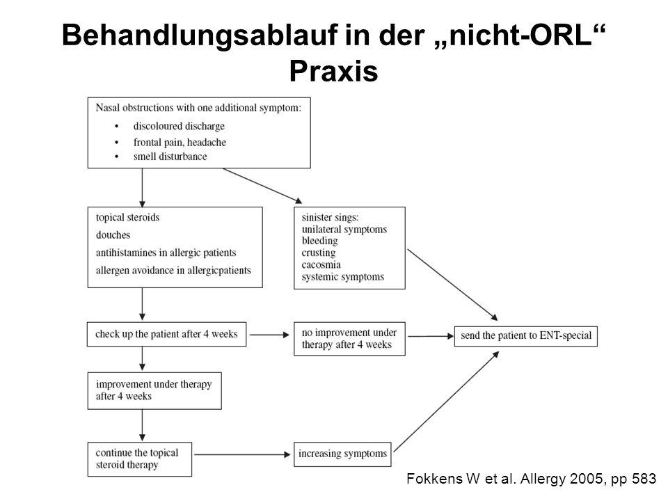 """Behandlungsablauf in der """"nicht-ORL Praxis"""