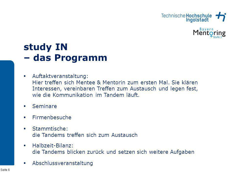 study IN – das Programm