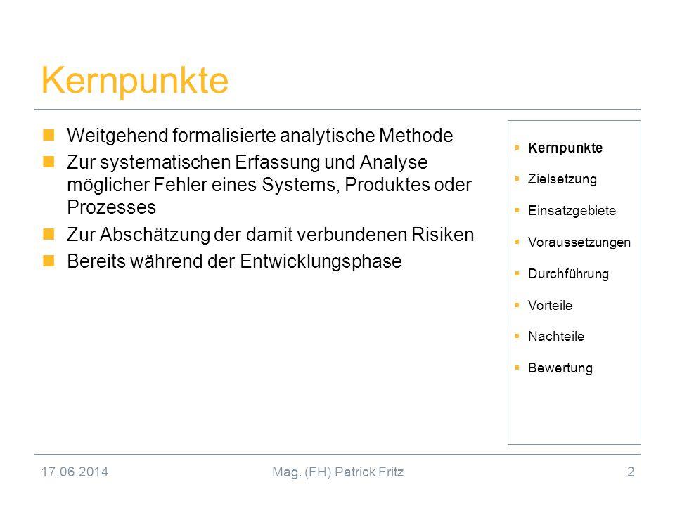 Kernpunkte Weitgehend formalisierte analytische Methode