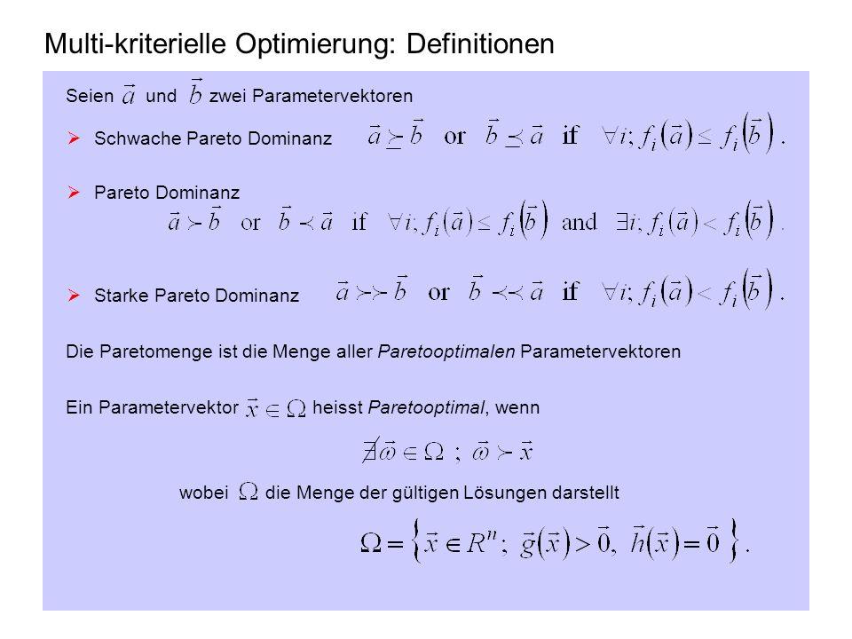 Multi-kriterielle Optimierung: Definitionen