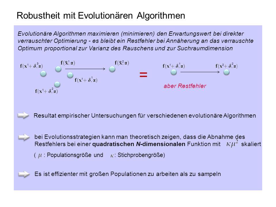 Robustheit mit Evolutionären Algorithmen
